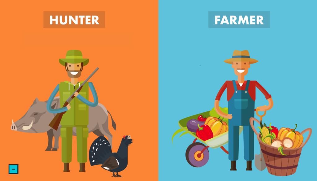 Lovci a farmáři